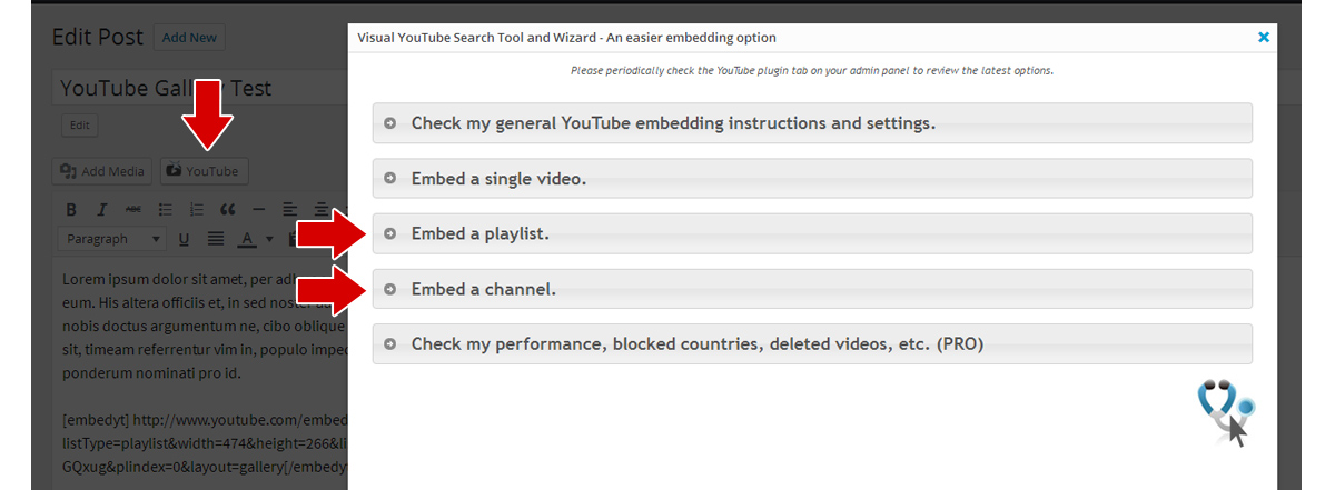 Embed a Responsive YouTube Playlist and Channel Gallery with our